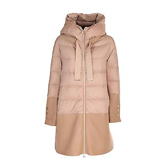 Herno Pi1128d192882155 Dames's Beige Nylon Down Jacket