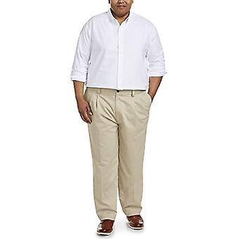 Essentials Men's Big & Tall Loose-fit rezistent la riduri plisate Chino ...