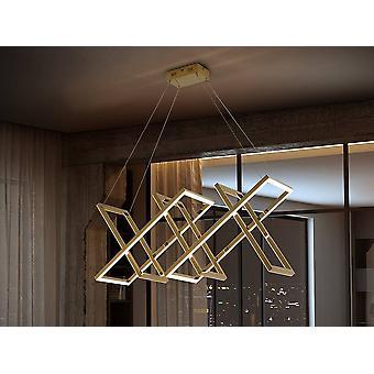 Schuller Limus - Integreret LED Crystal Moderne Loft Vedhæng Guld