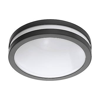 LED Outdoor Flush Ceiling / Wall Light Anthracite IP44