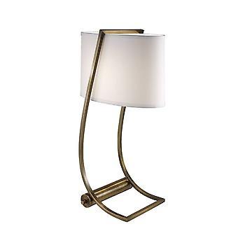 1 Lampe de table légère en laiton, E27