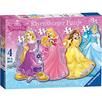 Ravensburger Disney Princess 4 Large Shaped Jigsaw Puzzles