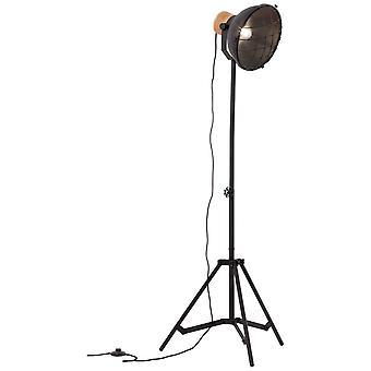 BRILLIANT Lampa Emma GolvLampa 1flg svart korund | 1x A60, E27, 60W, lämplig för normala lampor (medföljer ej) |