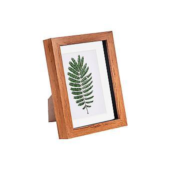 Nicola Spring 5 x 7 3D Shadow Box Photo Frame - Craft Display Picture Frame - Glazen Diafragma - Donker hout