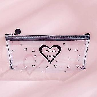 Starry Sky Heart Pencil Case For-transparent Box