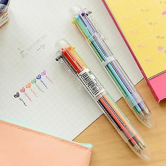 6-in-1 Ballpoint Pen, Creative Novelty, Multicolor Pens For School Stationary,