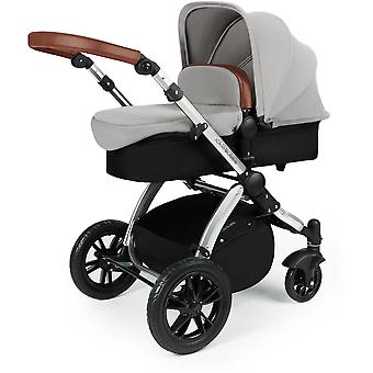 Ickle Bubba Stomp v3 2-in1 Silver Pushchair and Carrycot