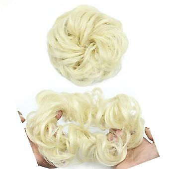 Curly Scrunchie Chignon With Rubber Band - Synthetic Hair Ring Wrap On Messy