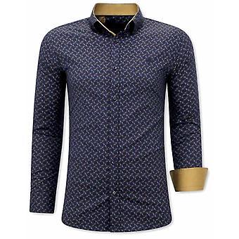 E Shirts - Slim Fit - Navy