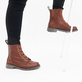 Heavenly Feet Ingrid Ladies Ankle Boots Brown