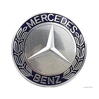 Blue/Silver Mercedes Benz Wheel Center Cap Hub Badge 75mm 1 PCS For A B C E S G CLASS CLA CLS SLK ML AMG
