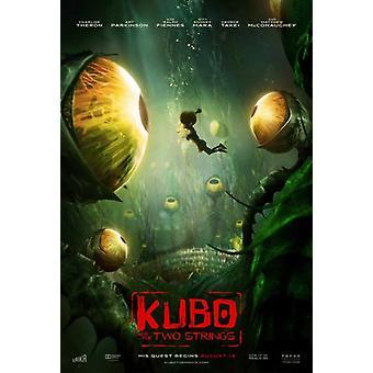 Kubo e o pôster do filme de duas sequências de caracteres (11 x 17)