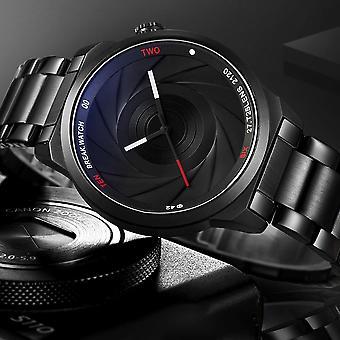 BREAK T25 Fotografering Tema Armbandsur rostfri spännband kvarts klocka