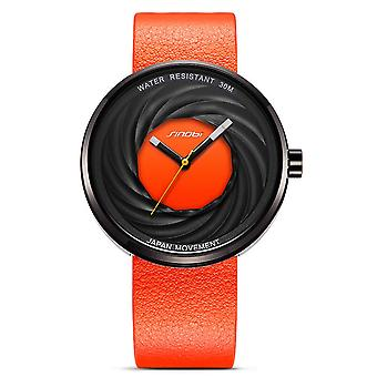 SINOBI 9683 Fashion Creative Watches Genuine Leather Strap Quartz Wrist Watch