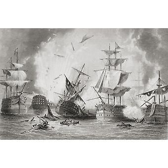 The Battle Of Navarino 20 October 1827 Fought In Navarino Bay Ionian Sea Greece From The Age We Live In A History Of The Nineteenth Century PosterPrint