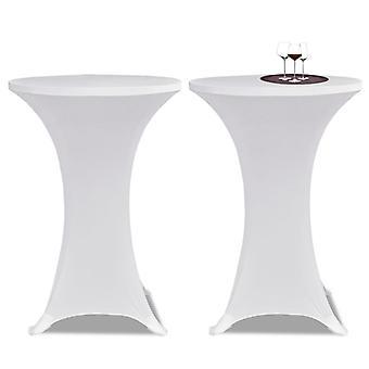 2 × الطاولة husse للوقوف الجدول Stretchhusse 80 سم أبيض