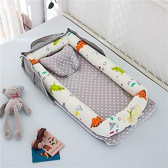 Baby Nest Crib Portable And Washable Travel Bed With Pillow Cotton Cradle