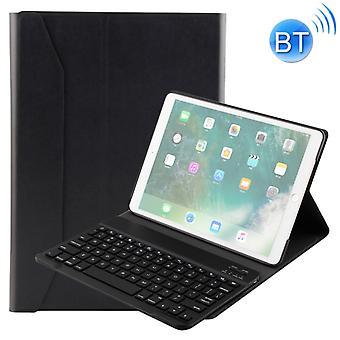 FT-1035 Pour iPad Pro 10,5 pouces & iPad Air 10.5 pouces Texture Lambskin Texture Détachable En plastique Bluetooth Clavier Couvercle en cuir avec fonction stand (noir)
