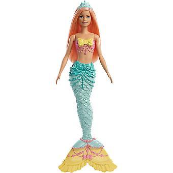Barbie fxt11 dreamtopia sellő baba, korall haj
