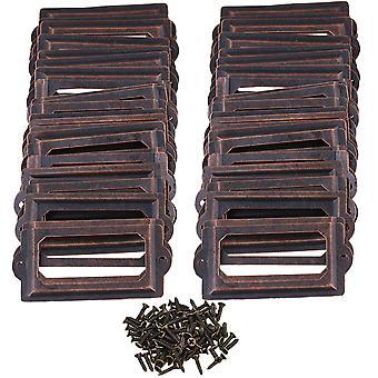 100piece Metal Label Houder Label Fram Card Holder 70x33mm