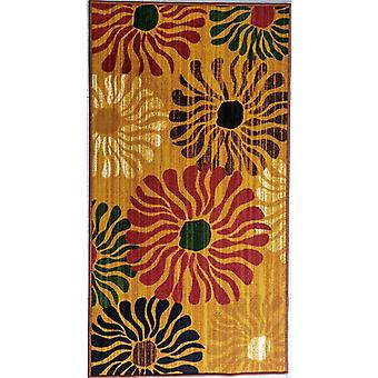Wild Flowers Style Polyester Area Rug Anti-slip Small Carpet / Runners