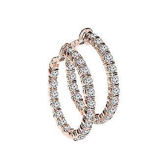 1.00 ct. Diamond Hoop Oorbellen Rose Gold