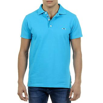 Andrew Charles Bărbați Polo Guler Gât Slim Fit Light Blu