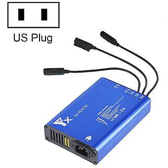 Pour DJI MAVIC Pro Aluminium Alloy 5 in 1 Hub Intelligent Battery Controller Charger, Plug Type:US Plug