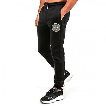 Glorious Gangsta Berto Black Logo Jogger Bottoms