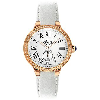 GV2 Womans Astor Vegan White Dial White Vegan Strap Watch