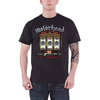 Motorhead T Shirt Slots Casino Slots Born to Lose logo Official Mens Dark Grey