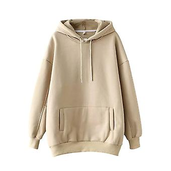 Casual Solid Hooded, Women Batwing Long Sleeve Plus Size Sweatshirts, Autumn