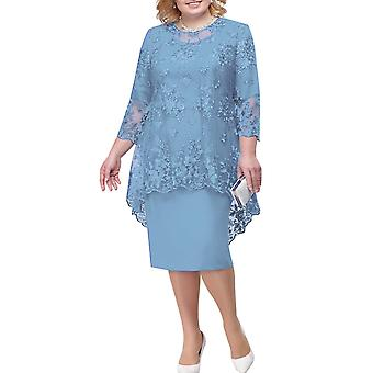Plus Size Lace Cocktail Formal Party Robes