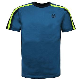 Sergio Tacchini Mens Fritzi Co T-Shirt Teed Branded Top Teal 38738 293