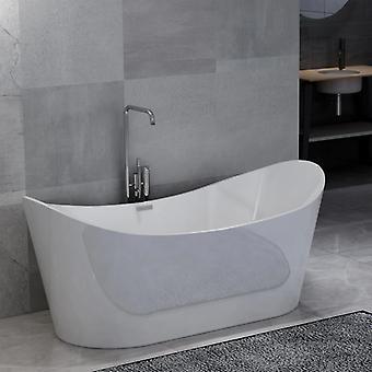 Freistehende Badewanne Weiß Acryl 204 L