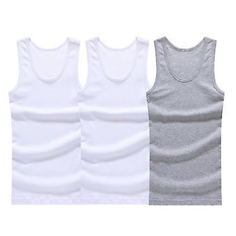 Cotton Mens Underwear Sleeveless Tank Top Solid Muscle Vest Undershirts
