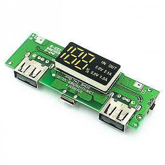 Led Dual Usb 5v 2.4a Micro Type-c Mobile Power Bank 18650 Charging Module