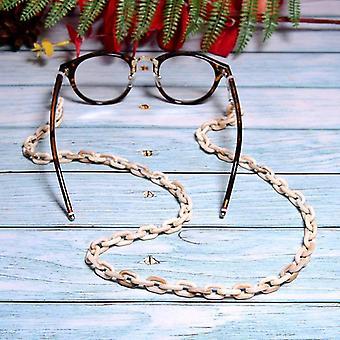 ヒョウアクリルサングラスチェーンシックな女性のアンチスリップ老眼鏡アイウェア