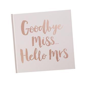 Pink Rose Gold Foiled Livre de conseils pour la mariée d'être Hen Party Book Team Mariée