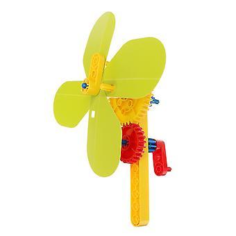 Handheld Manual Fan Gear Drive 5 Speed DIY Mechanical Explore Science Model Toy Kit