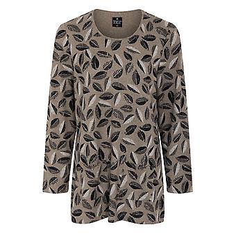 TIGI All Over Leaf Print Tunic