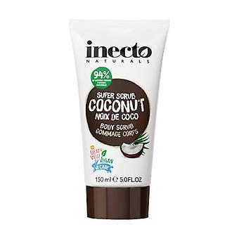 Coconut Body Scrub with Pure Organic Coconut Oil 150 ml of cream