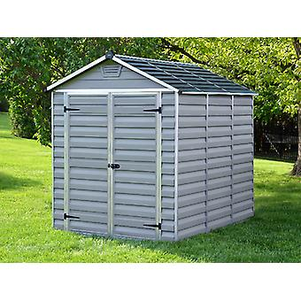 Caseta de jardín de policarbonato, SkyLight, 1,85x2,29x2,17m, Antracita