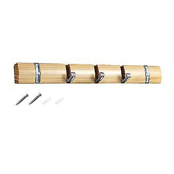 Crochet suspendu pliant de support de poinçon d'alliage de zinc en bois