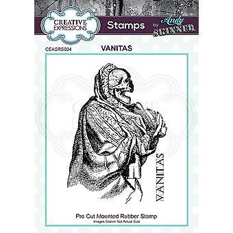 Kreative uttrykk Andy Skinner Vanitas 2,9 x 2 i gummistempel