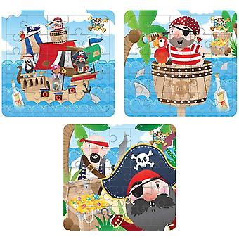 HydroKidz Pirate JIgsaw Puzzle Set - 3 Fun Designs
