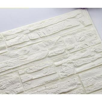 Self Adhesive 3d Wall Sticker, Waterproof Background Brick Pattern Wallpaper