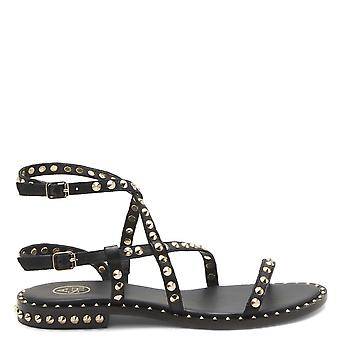 Ash Footwear Petra Studded Leather Sandals Black