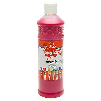 Scola AM600/25 Artmix Ready-mix Paint 600ml - Crimson