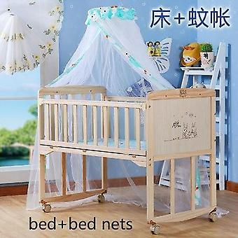 أزياء سرير الطفل الخشب الصلب الطلاء الحرة هزاز دفع متغير مكتب مهد